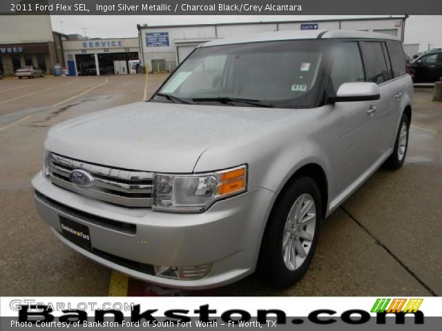 ingot silver metallic 2011 ford flex sel charcoal. Black Bedroom Furniture Sets. Home Design Ideas