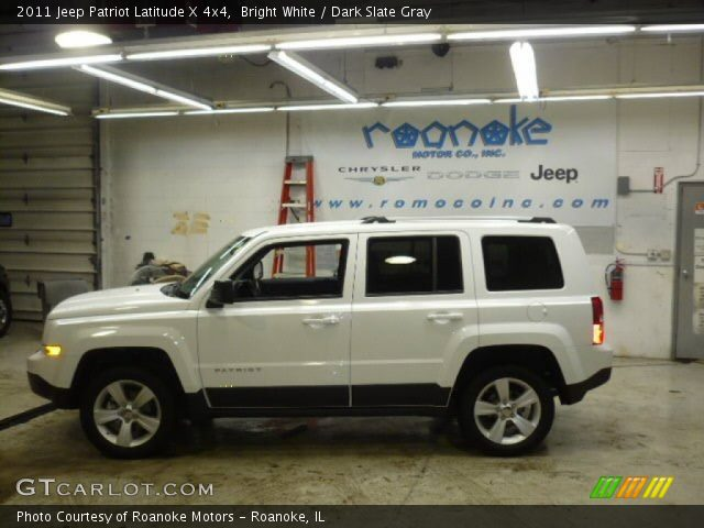 bright white 2011 jeep patriot latitude x 4x4 dark. Black Bedroom Furniture Sets. Home Design Ideas