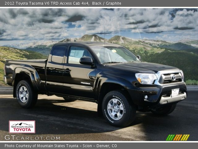 black 2012 toyota tacoma v6 trd access cab 4x4 graphite interior vehicle. Black Bedroom Furniture Sets. Home Design Ideas