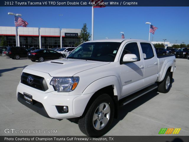 2012 Toyota Tacoma V6 TRD Sport Double Cab 4x4 in Super White