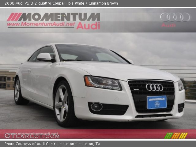 ibis white 2008 audi a5 3 2 quattro coupe cinnamon. Black Bedroom Furniture Sets. Home Design Ideas