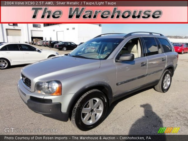 silver metallic 2004 volvo xc90 2 5t awd taupe light taupe interior vehicle. Black Bedroom Furniture Sets. Home Design Ideas