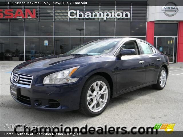navy blue 2012 nissan maxima 3 5 s charcoal interior vehicle archive 58238353. Black Bedroom Furniture Sets. Home Design Ideas
