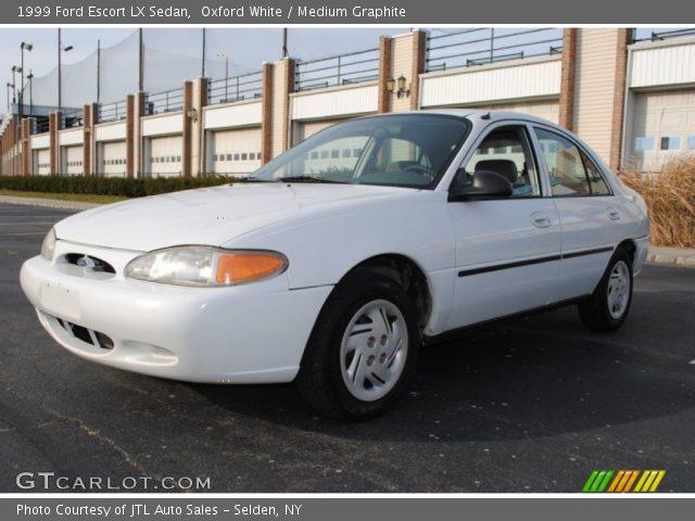 oxford white 1999 ford escort lx sedan medium graphite interior gtcarlot com vehicle archive 58239052 gtcarlot com