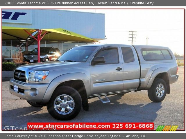 desert sand mica 2008 toyota tacoma v6 sr5 prerunner access cab graphite gray interior. Black Bedroom Furniture Sets. Home Design Ideas
