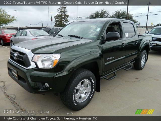 spruce green mica 2012 toyota tacoma v6 trd prerunner double cab graphite interior. Black Bedroom Furniture Sets. Home Design Ideas