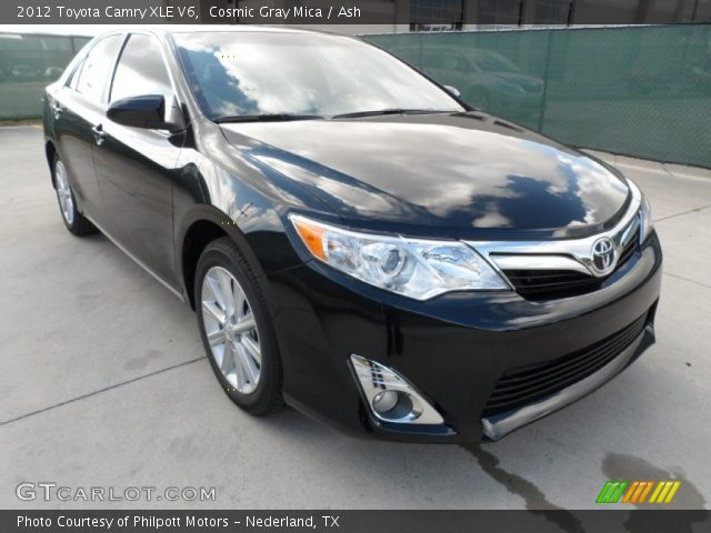 cosmic gray mica 2012 toyota camry xle v6 ash interior vehicle archive. Black Bedroom Furniture Sets. Home Design Ideas