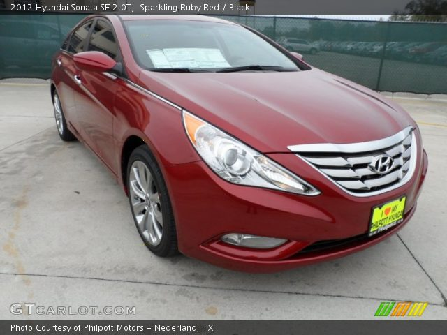 sparkling ruby red 2012 hyundai sonata se 2 0t black interior vehicle. Black Bedroom Furniture Sets. Home Design Ideas