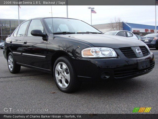 blackout 2006 nissan sentra 1 8 s sage interior vehicle archive 58364540. Black Bedroom Furniture Sets. Home Design Ideas