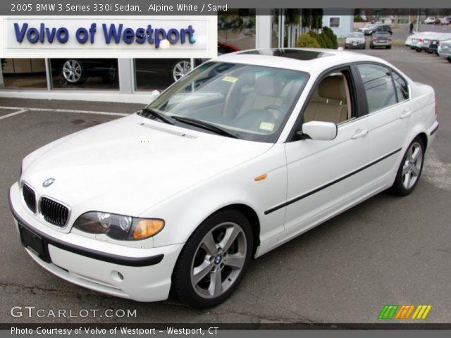 alpine white 2005 bmw 3 series 330i sedan sand interior vehicle archive. Black Bedroom Furniture Sets. Home Design Ideas