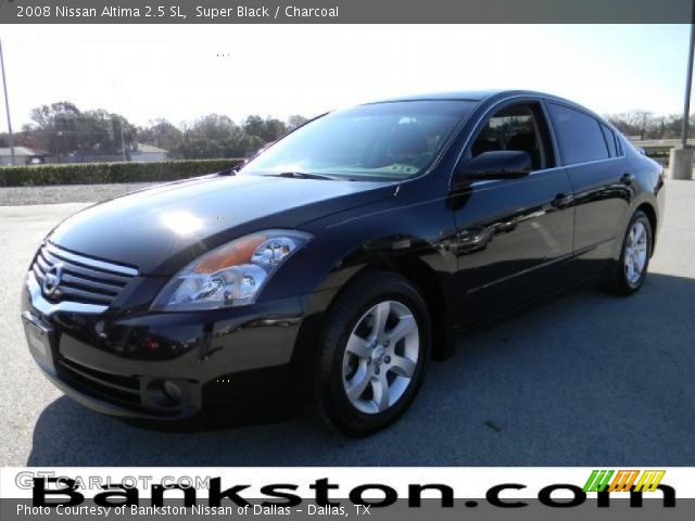super black 2008 nissan altima 2 5 sl charcoal interior vehicle archive. Black Bedroom Furniture Sets. Home Design Ideas