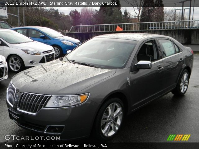 sterling gray metallic 2012 lincoln mkz awd dark charcoal interior vehicle. Black Bedroom Furniture Sets. Home Design Ideas