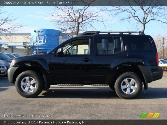 super black 2009 nissan xterra x 4x4 steel interior vehicle archive 58397196. Black Bedroom Furniture Sets. Home Design Ideas