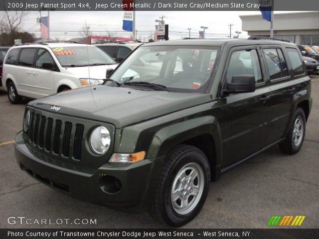 jeep green metallic 2009 jeep patriot sport 4x4 dark. Black Bedroom Furniture Sets. Home Design Ideas