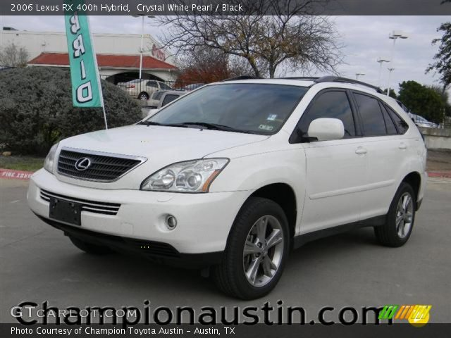crystal white pearl 2006 lexus rx 400h hybrid black. Black Bedroom Furniture Sets. Home Design Ideas