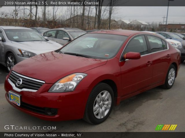 red brick metallic 2009 nissan altima 2 5 s charcoal interior vehicle. Black Bedroom Furniture Sets. Home Design Ideas
