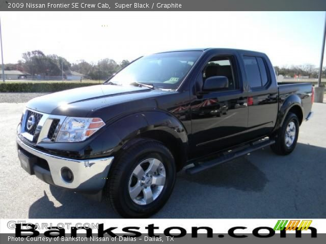 super black 2009 nissan frontier se crew cab graphite interior vehicle. Black Bedroom Furniture Sets. Home Design Ideas