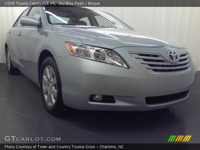 sky blue pearl 2008 toyota camry xle v6 bisque interior vehicle archive. Black Bedroom Furniture Sets. Home Design Ideas