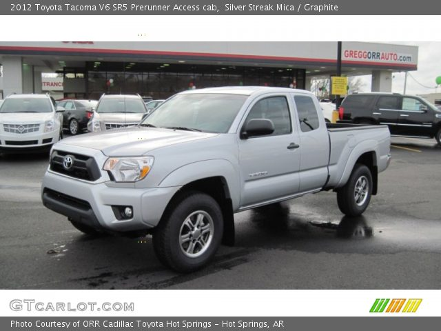 silver streak mica 2012 toyota tacoma v6 sr5 prerunner access cab graphite interior. Black Bedroom Furniture Sets. Home Design Ideas