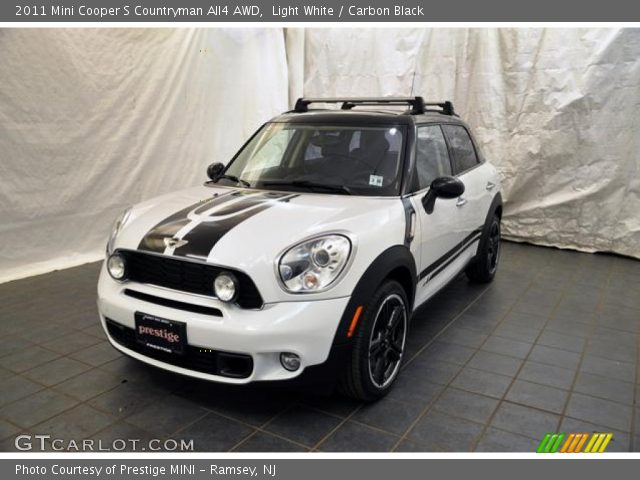 light white 2011 mini cooper s countryman all4 awd carbon black interior. Black Bedroom Furniture Sets. Home Design Ideas
