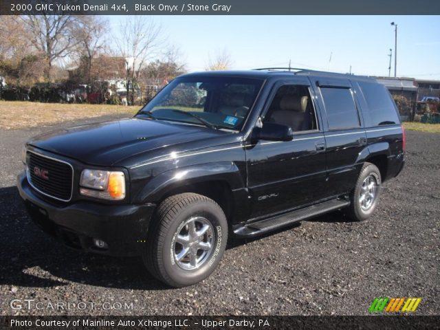 black onyx 2000 gmc yukon denali 4x4 stone gray interior vehicle archive. Black Bedroom Furniture Sets. Home Design Ideas