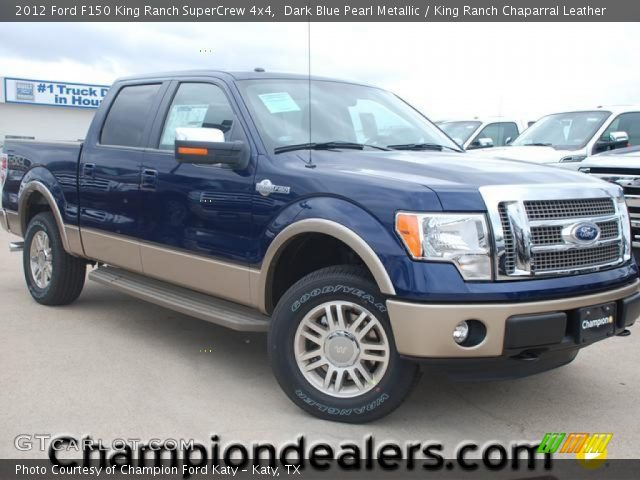 dark blue pearl metallic 2012 ford f150 king ranch supercrew 4x4 king ranch chaparral. Black Bedroom Furniture Sets. Home Design Ideas