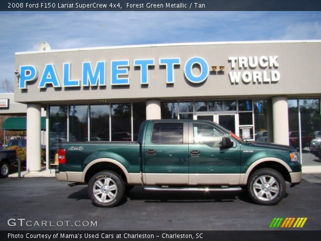 2008 Ford F150 Lariat SuperCrew 4x4 in Forest Green Metallic