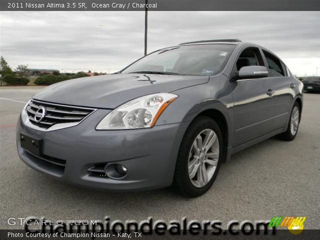 ocean gray 2011 nissan altima 3 5 sr charcoal interior vehicle archive. Black Bedroom Furniture Sets. Home Design Ideas