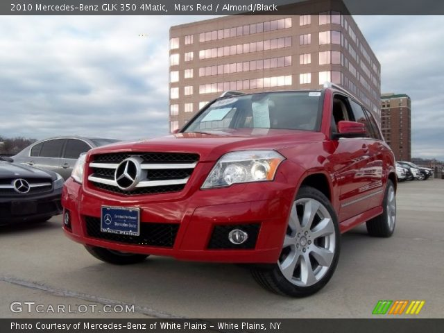 Mars Red 2010 Mercedes Benz Glk 350 4matic Almond