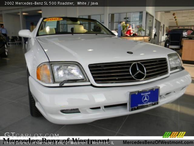 white 2002 mercedes benz sl 500 roadster java interior vehicle archive. Black Bedroom Furniture Sets. Home Design Ideas