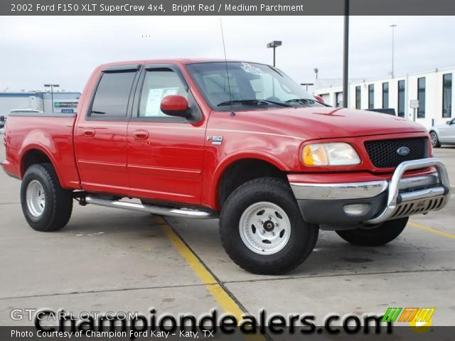 bright red 2002 ford f150 xlt supercrew 4x4 medium. Black Bedroom Furniture Sets. Home Design Ideas