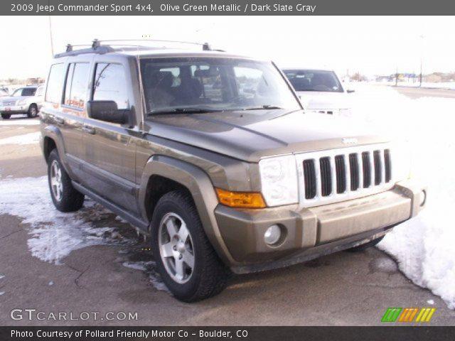 olive green metallic 2009 jeep commander sport 4x4. Black Bedroom Furniture Sets. Home Design Ideas
