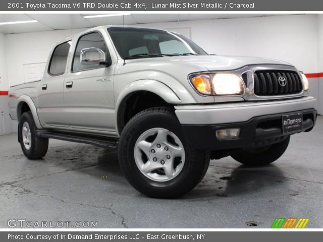 lunar mist silver metallic 2001 toyota tacoma v6 trd double cab 4x4 charcoal interior. Black Bedroom Furniture Sets. Home Design Ideas