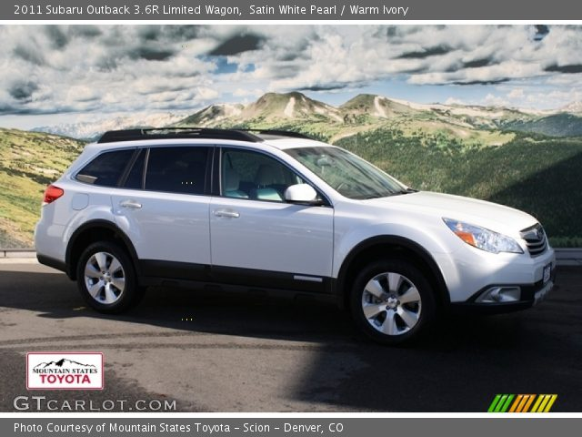 satin white pearl 2011 subaru outback 3 6r limited wagon. Black Bedroom Furniture Sets. Home Design Ideas