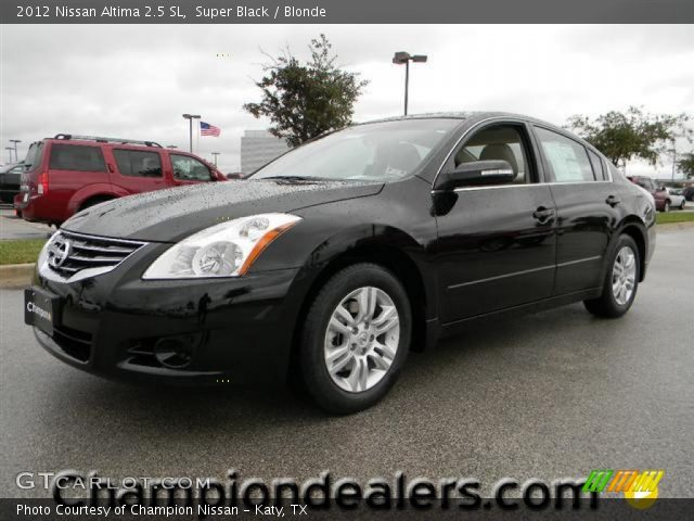 super black 2012 nissan altima 2 5 sl blonde interior vehicle archive 58724530. Black Bedroom Furniture Sets. Home Design Ideas