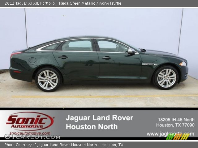 2012 Jaguar XJ XJL Portfolio in Taiga Green Metallic
