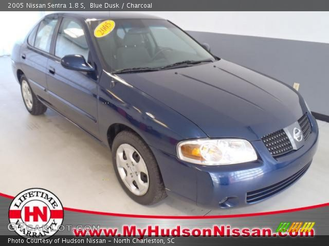 blue dusk 2005 nissan sentra 1 8 s charcoal interior. Black Bedroom Furniture Sets. Home Design Ideas