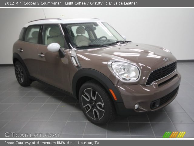 light coffee 2012 mini cooper s countryman gravity polar beige leather interior gtcarlot. Black Bedroom Furniture Sets. Home Design Ideas