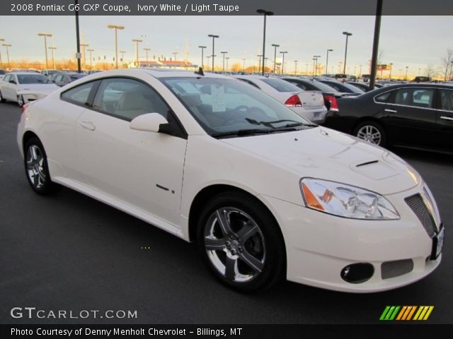 2008 Pontiac G6 GXP Coupe in Ivory White. Click to see large photo.