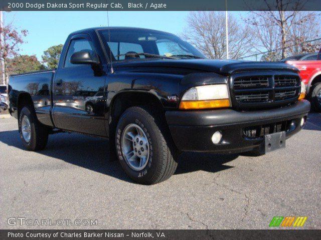 black 2000 dodge dakota sport regular cab agate interior vehicle archive. Black Bedroom Furniture Sets. Home Design Ideas