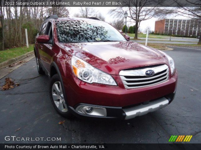2012 Subaru Outback 3.6R Limited in Ruby Red Pearl