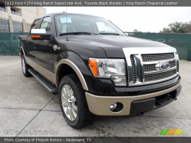 tuxedo black metallic 2012 ford f150 king ranch supercrew 4x4 king ranch chaparral leather. Black Bedroom Furniture Sets. Home Design Ideas