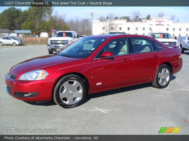 red jewel tint coat 2007 chevrolet impala ss neutral beige interior vehicle. Black Bedroom Furniture Sets. Home Design Ideas