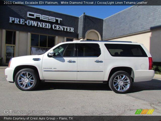 2011 Cadillac Escalade ESV Platinum in White Diamond Tricoat