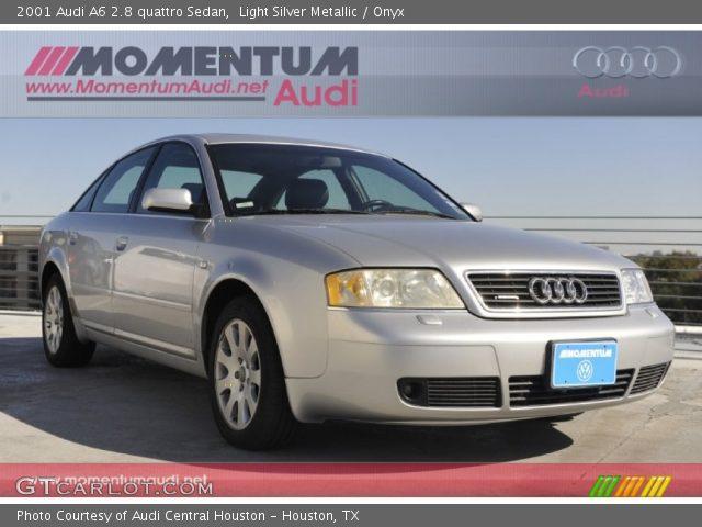 light silver metallic 2001 audi a6 2 8 quattro sedan onyx interior vehicle. Black Bedroom Furniture Sets. Home Design Ideas