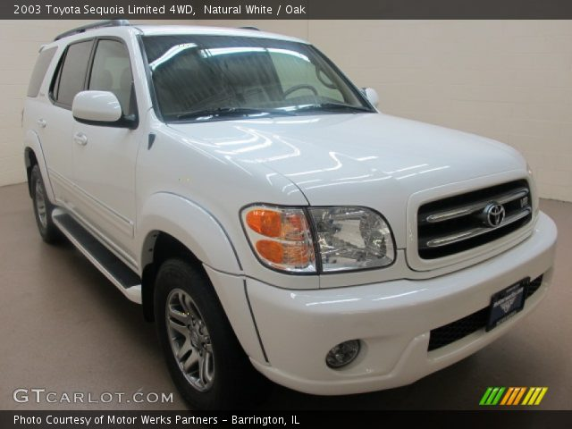 natural white 2003 toyota sequoia limited 4wd oak interior vehicle archive. Black Bedroom Furniture Sets. Home Design Ideas