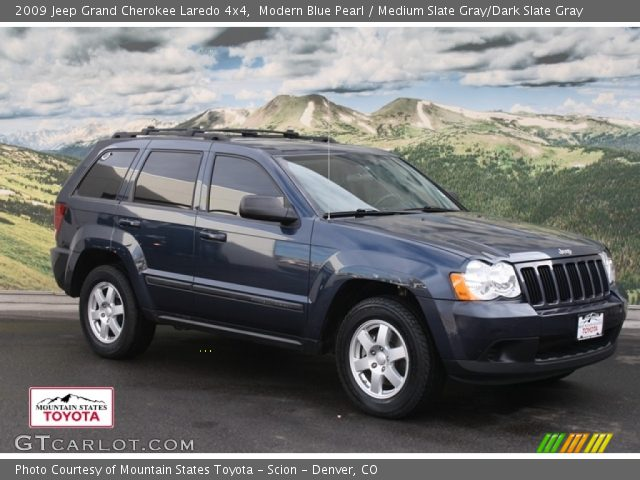 modern blue pearl 2009 jeep grand cherokee laredo 4x4 medium slate gray dark slate gray. Black Bedroom Furniture Sets. Home Design Ideas