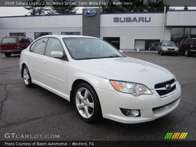 satin white pearl 2008 subaru legacy limited sedan. Black Bedroom Furniture Sets. Home Design Ideas