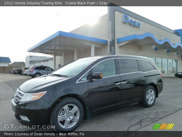 crystal black pearl 2012 honda odyssey touring elite gray interior vehicle. Black Bedroom Furniture Sets. Home Design Ideas