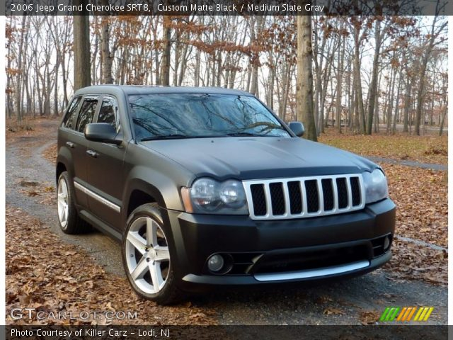 custom matte black 2006 jeep grand cherokee srt8. Black Bedroom Furniture Sets. Home Design Ideas